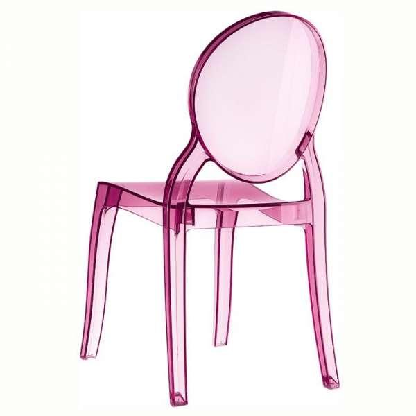 Chaise moderne en plexi transparent rose Elizabeth - 15