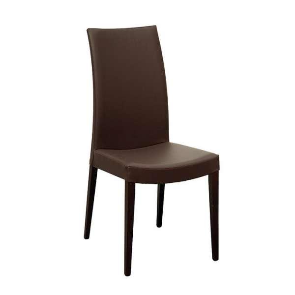Chaise de salle à manger contemporaine en bois et synthétique - Cometa