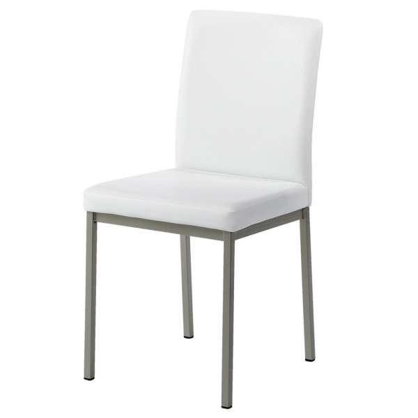 Chaise contemporaine en métal et revêtement synthétique - Villa 2 - 2