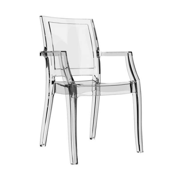 Fauteuil contemporain en polycarbonate transparent - Arthur - 2
