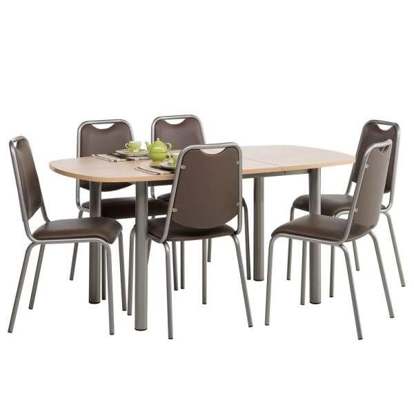 Table de cuisine en stratifié avec allonge - Lustra - 3