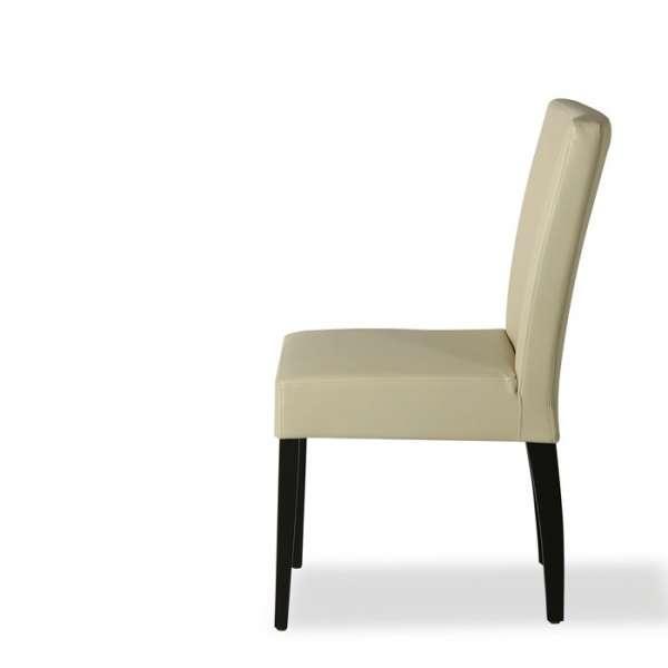 Chaise moderne en vinyl et bois – Matias - 3