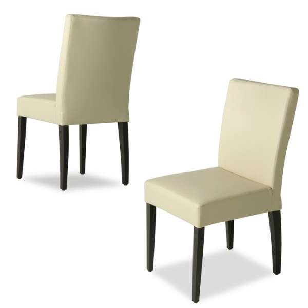 Chaise en synthétique et bois – Matias - 4