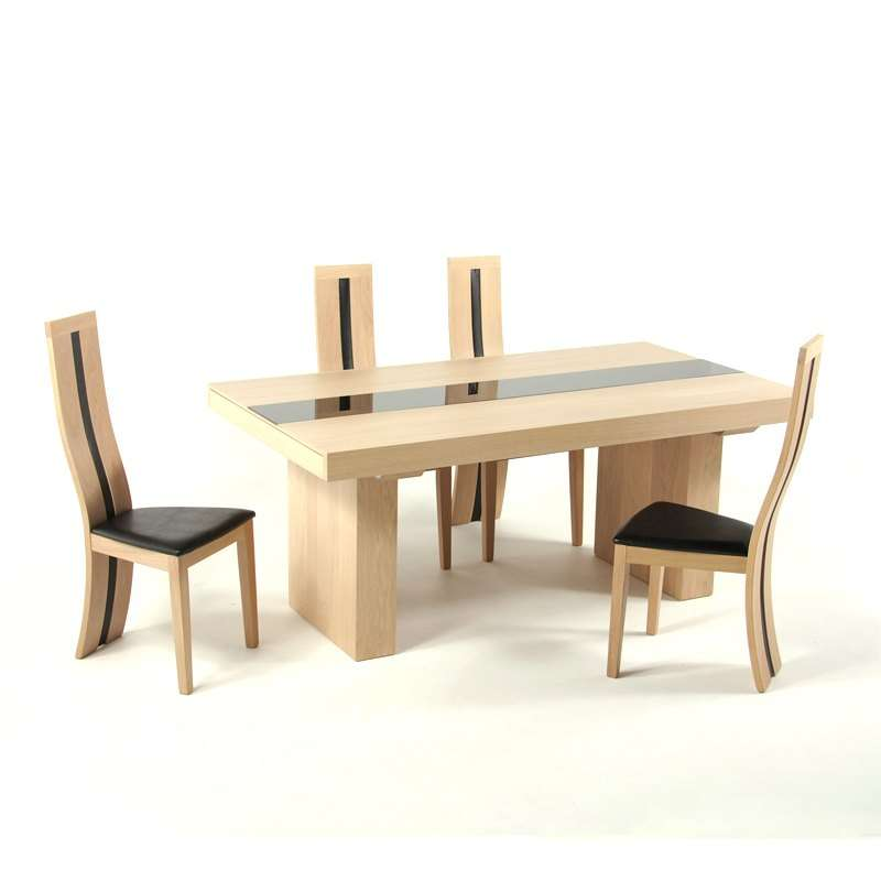 Table Salle A Manger Chene Massif Contemporain.Chaise De Salle A Manger Contemporaine En Chene Massif Anis 1420
