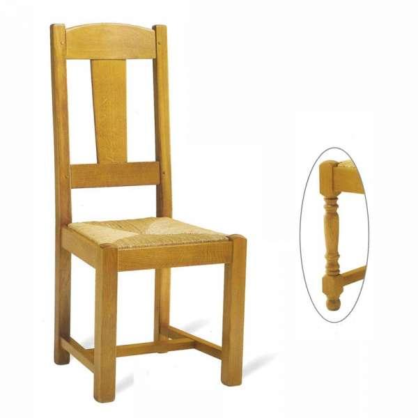 Chaise de salle à manger en bois rustique fabrication française - 740 742 - 1