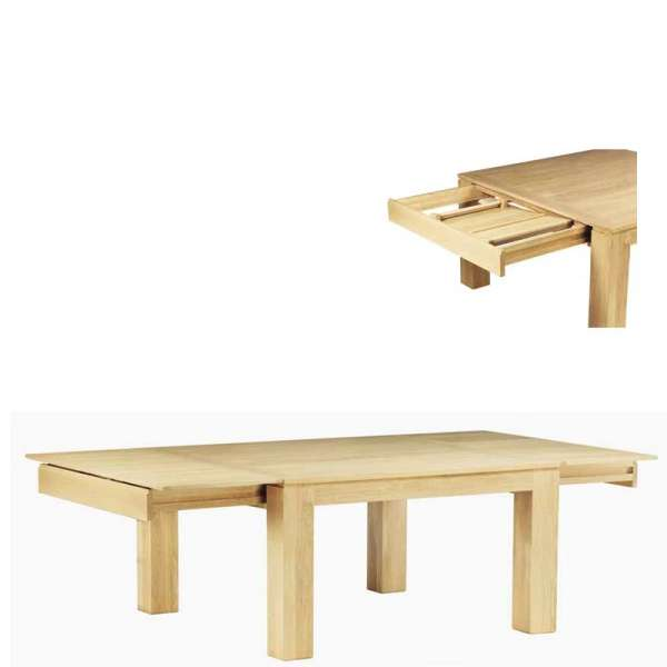 Table made in France en chêne massif extensible avec insert céramique - Baobab - 5