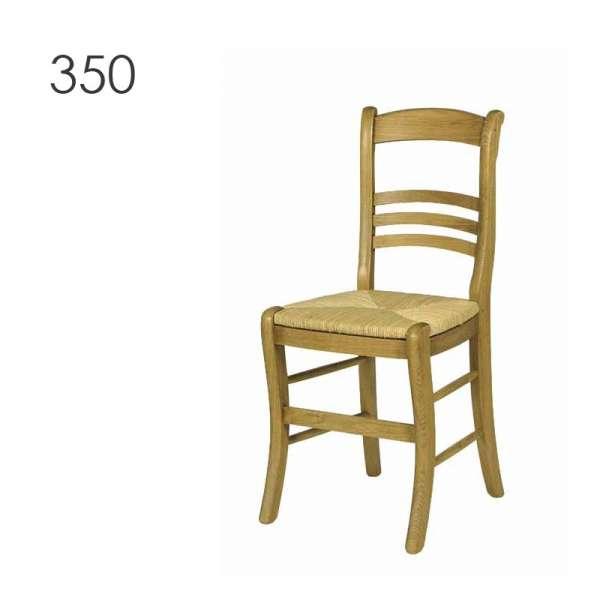 Chaise rustique en chêne massif fabrication française - 350 360 - 2
