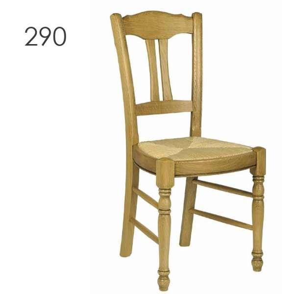 Chaise de cuisine rustique en chêne massif - 290/293/295