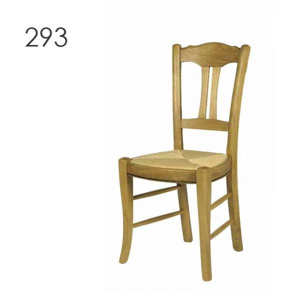 Chaise traditionnelle française en bois massif - 290 293 295 - 2