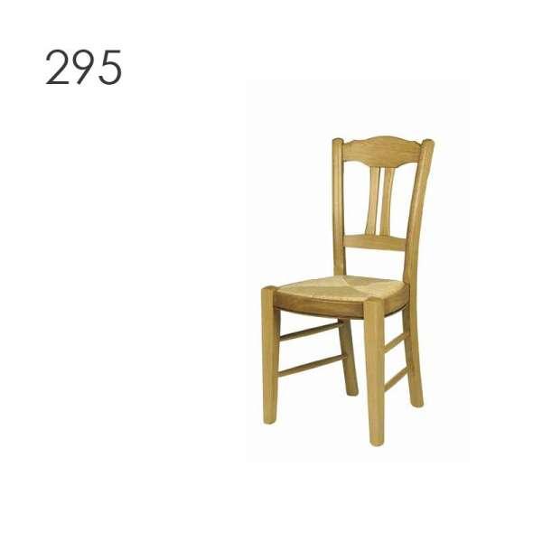 Chaise rustique française en bois massif - 290 293 295 - 3