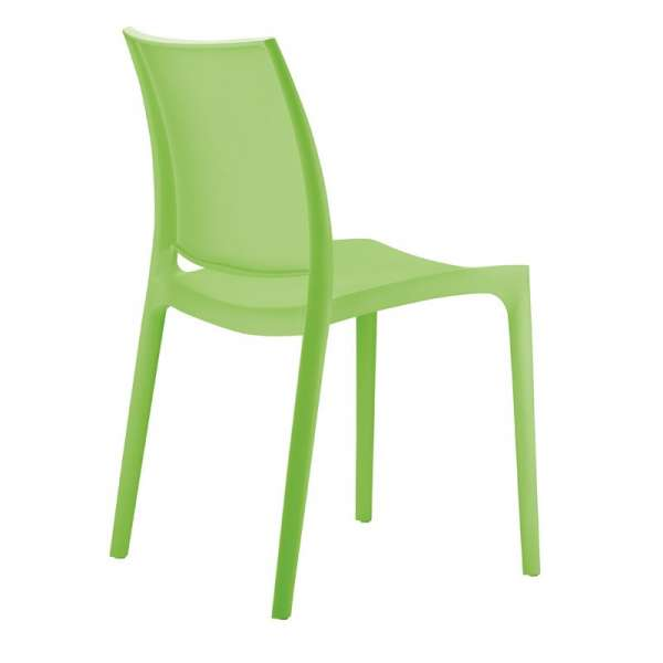 Chaise verte en plastique - Maya - 21