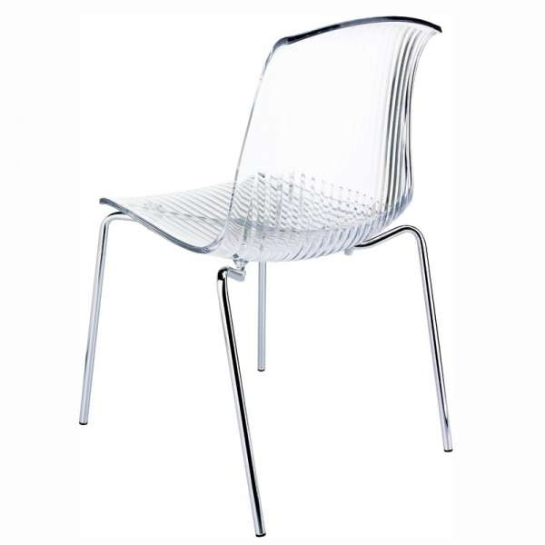 Chaise moderne en polycarbonate transparent - Allegra - 9