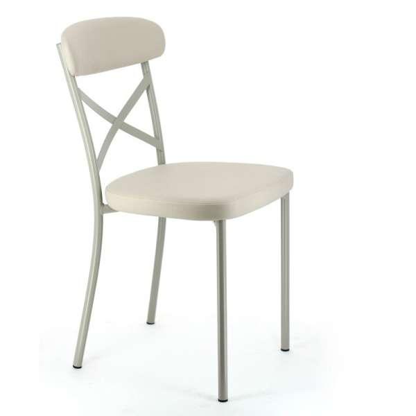 Chaise de cuisine en vinyl et métal - Calia 2 - 2