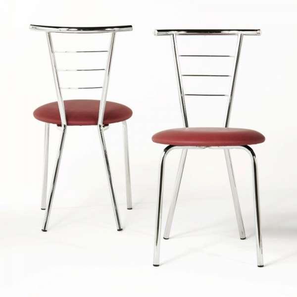 Chaise de cuisine chromée - Valérie - 10