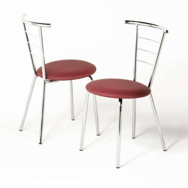 Chaise chromée pour cuisine - Valérie - 9