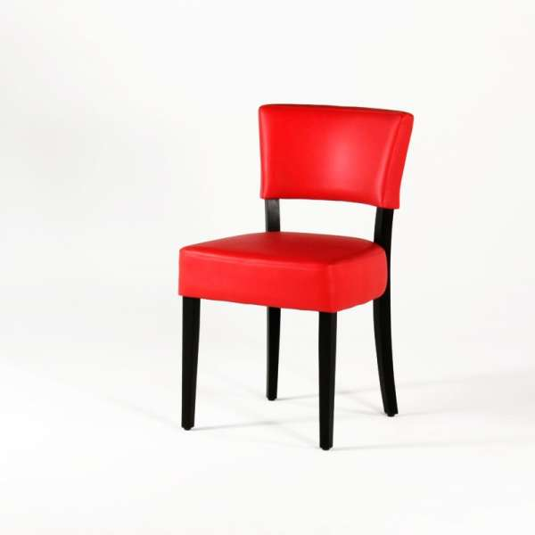 Chaise moderne en vinyl rouge - Steffi - 9