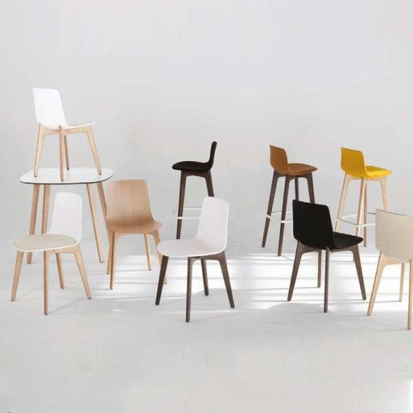 Chaise design en polypropylène et piètement bois Lottus - 2