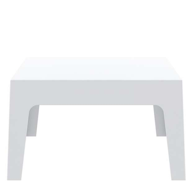 Table basse de jardin en polypropylène blanc - Box - 5