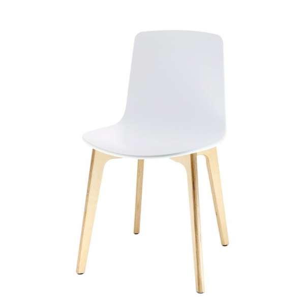 Chaise design en polypropylène et piètement bois Lottus - 6