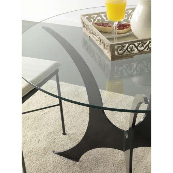 Table ronde en verre et métal - Apolo - 4