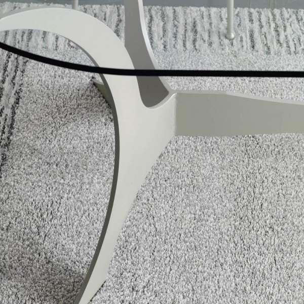 Table en fer forgé crème de forme ovale - Apolo - 3