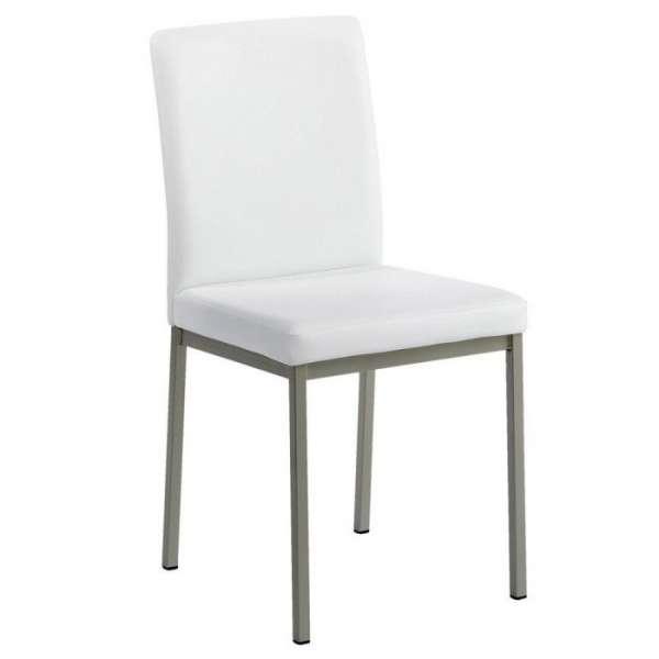 Chaise contemporaine en métal et revêtement synthétique - Villa - 1