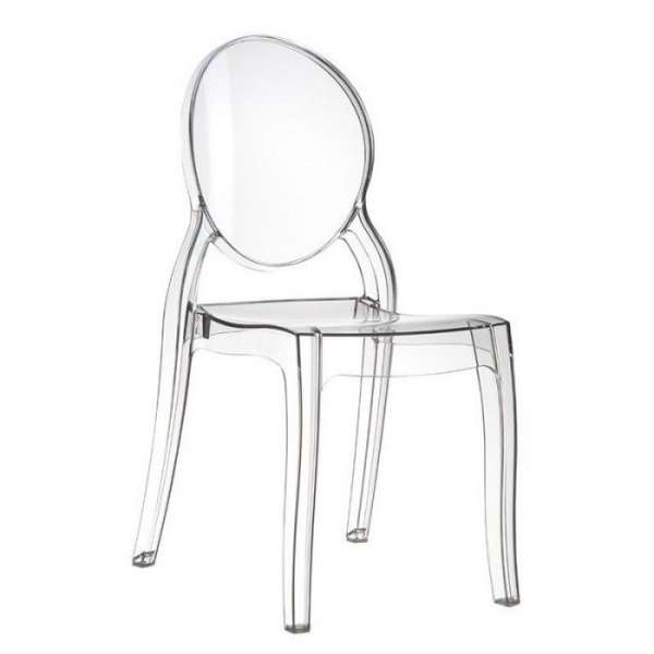Chaise design en plexi transparent Elizabeth - 7