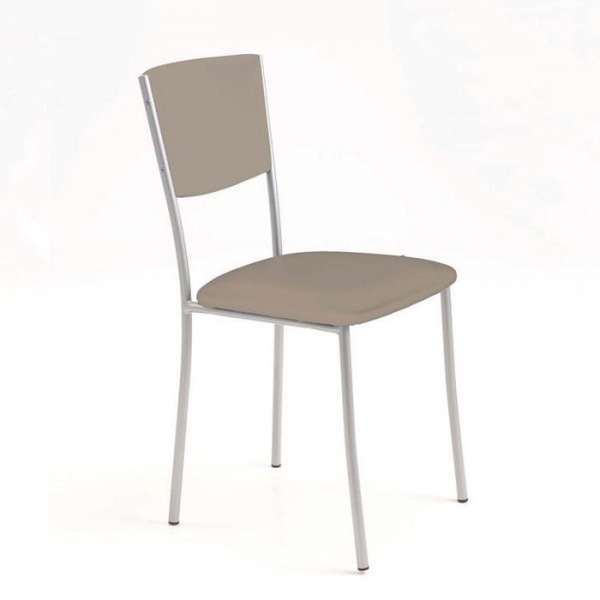 Chaise de cuisine en métal rembourrée - Ruby