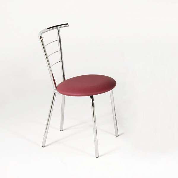 Chaise contemporaine de cuisine chromée - Valérie - 8