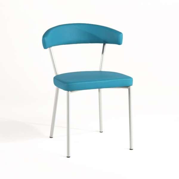 Chaise de cuisine en métal et synthétique - Elli - 1