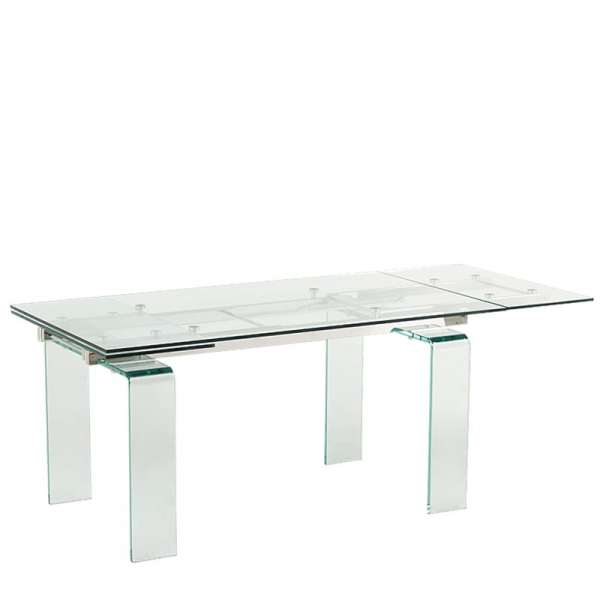 Table extensible design en verre Tania - 4