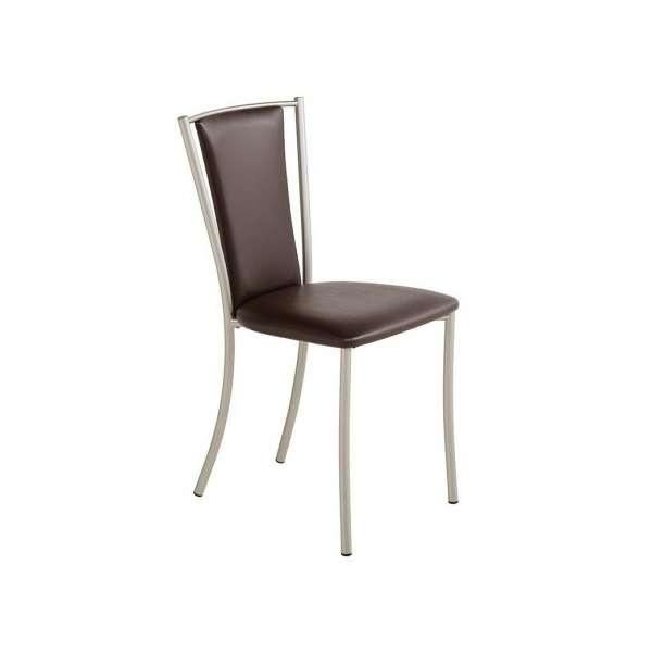 Chaise de cuisine contemporaine en métal et synthétique - Reina - 4