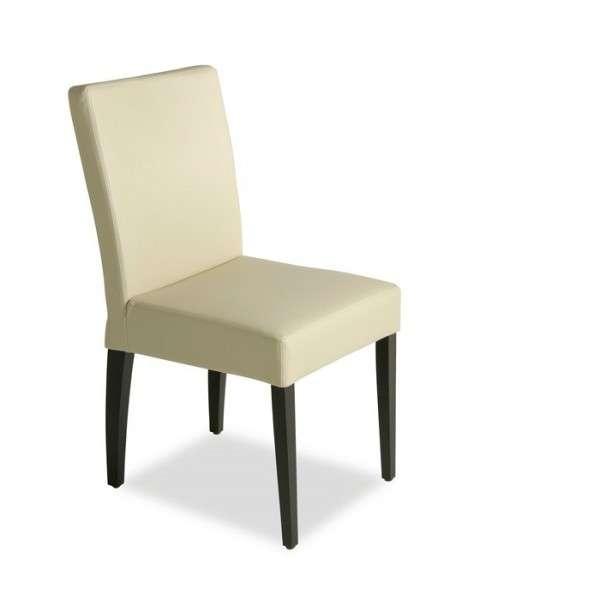 Chaise en vinyl et bois – Matias - 1