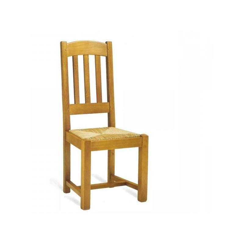 Chaise de salle manger en ch ne rustique 710 712 4 - Alinea chaise salle a manger ...