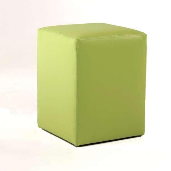 Pouf carré en vinyle synthétique – Quadra - 2