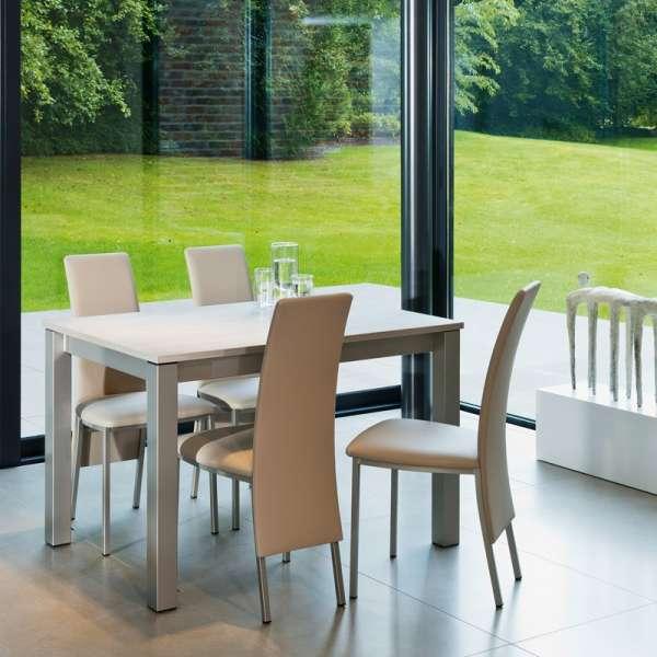 Table de cuisine rectangulaire en stratifié avec allonge - Valencia