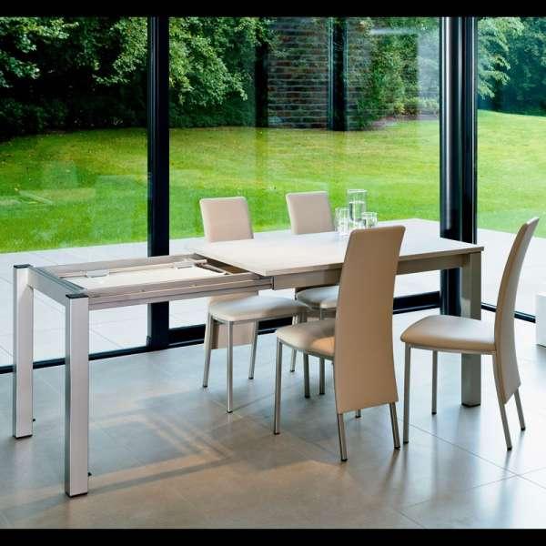 Table de cuisine rectangulaire en stratifié avec allonge - Valencia 18 - 17