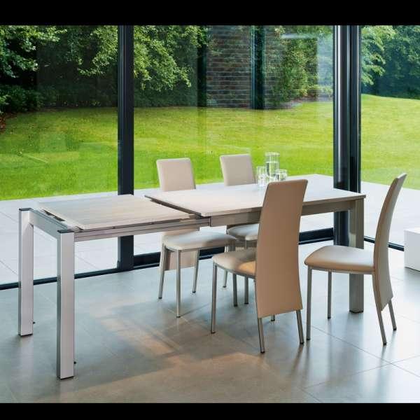 Table de cuisine rectangulaire en stratifié avec allonge - Valencia 17 - 16