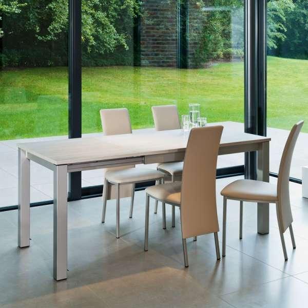 Table de cuisine rectangulaire en stratifié avec allonge - Valencia 16 - 15