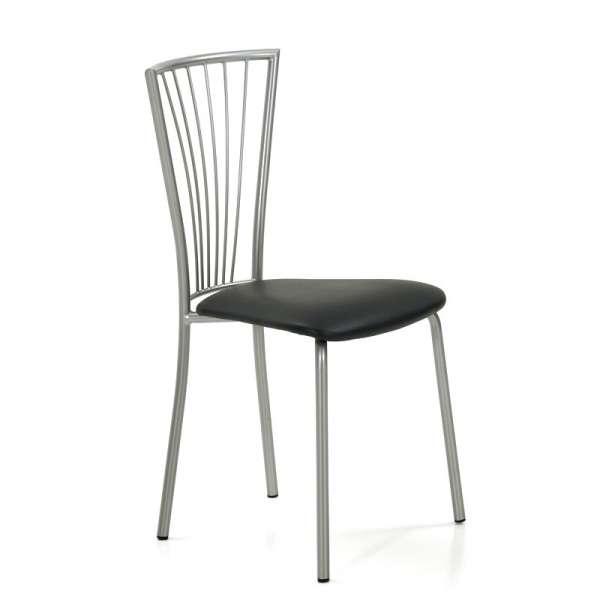 Chaise de cuisine en vinyl et métal - Jana 4 - 6