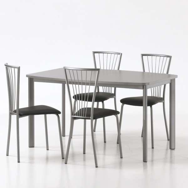 Chaise de cuisine en vinyl et métal - Jana 3 - 5