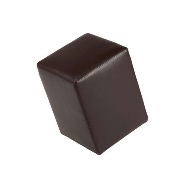 Pouf carré marron – Quadra - 9