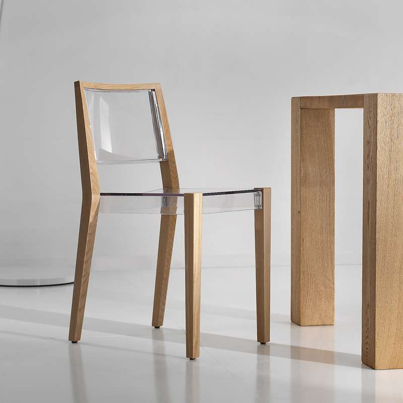 Chaise Transparente Together En Massif Structure Design Avec Bois rCQshdt
