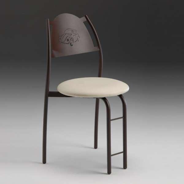 Chaise de cuisine française avec dossier à motif - Gaëlle - 1