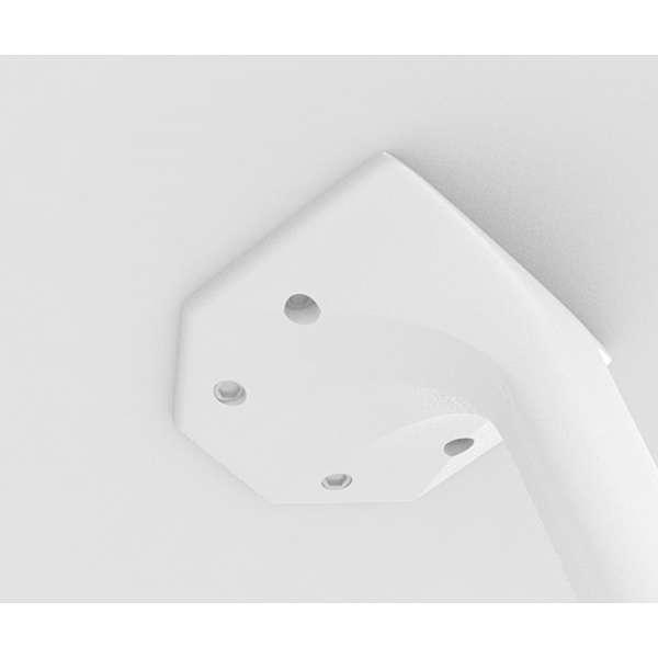 Table blanche design carrée en stratifié - Maya - 3
