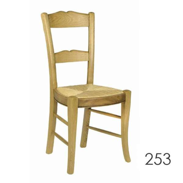 Chaise de cuisine rustique fabrication française - 250 253 255 - 1