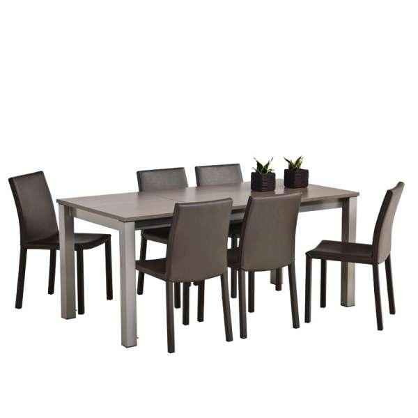 Table de cuisine rectangulaire en stratifié avec allonge - Valencia 4 - 3