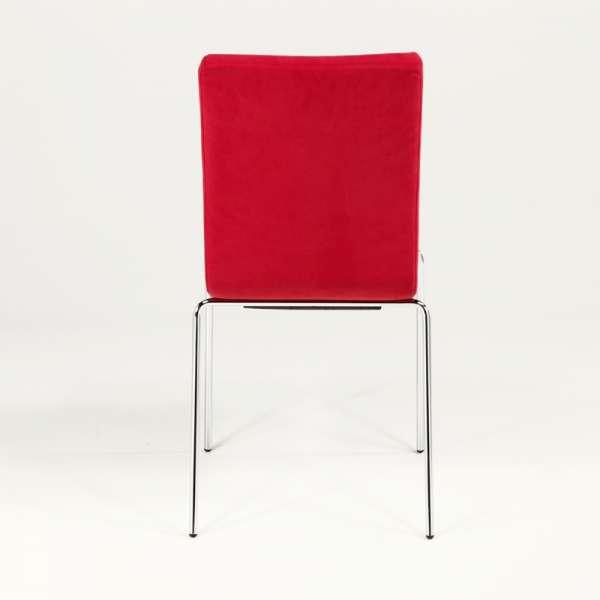 Chaise en tissu rouge et métal chromé - Krono Midj® - 7