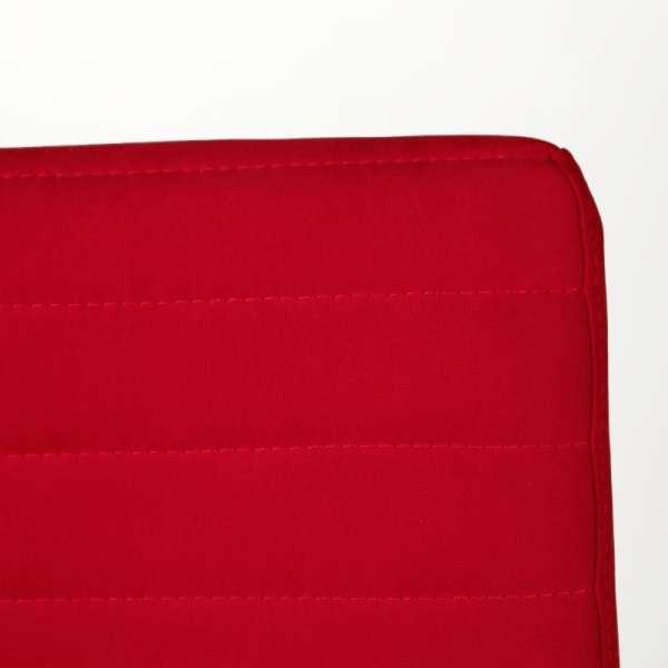 Chaise tendance empilable en tissu rouge et acier chromé - Krono Midj® - 10