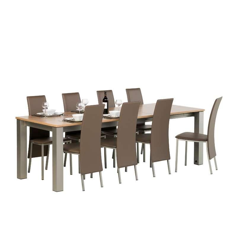 Chaise contemporaine de salle à manger en synthétique Elyn